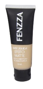 base líquida efeito matte Fenzza Make Up - bege claro