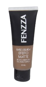 base líquida efeito matte Fenzza Make Up - pele morena