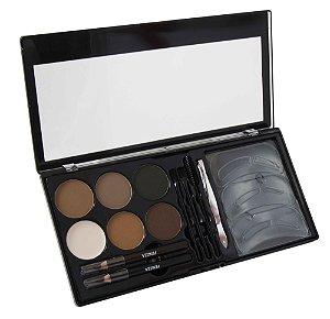 kit para olhos e sobrancelhas Fenzza Make Up