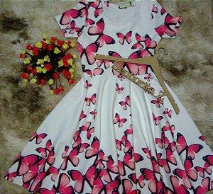 vestido borboletas pink