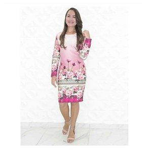 Vestido pink Barrado