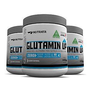 Kit 3 Glutamin Up Nutrata - Unisex - Melhora A Recuperação Pós Treino