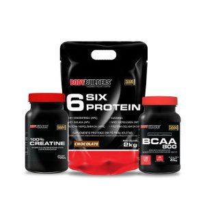 Combo 6six 2kg - Body Builders - Unisex - Blend De 6 Proteínas - Definiçao E Ganho De Massa Muscular