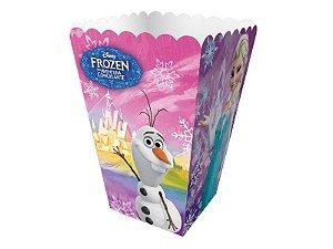 Mini caixa de pipoca para festa Frozen