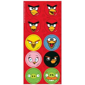 Adesivo Redondo Decorativo Angry Birds C/30