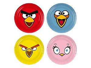 Prato Papel Descartável Festa Angry Birds C/8