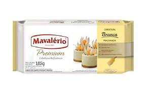 Barra Chocolate Branco Cobertura Fracionada Mavalério 1,01kg