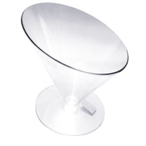 Taça copacabana bomboniere grande de acrílico