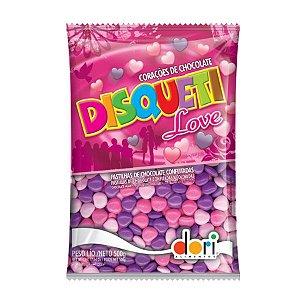 Confete de chocolate confeitado DISQUETI LOVE 500g