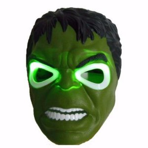 Máscara Hulk com luzes - fantasia vingadores