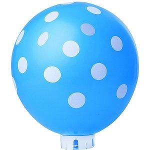 Balão / Bexiga Happy Day N11 Confete Azul Celeste C/25