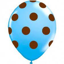 Balão / bexiga Happy day N11 confete azul cla / marrom c/25