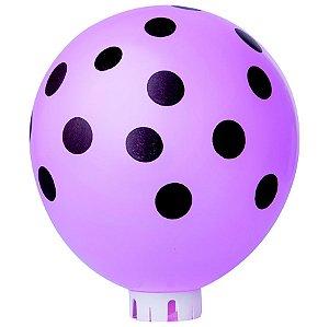 Balão / Bexiga Happy Day N11 Confete Rosa Com Marrom C/25