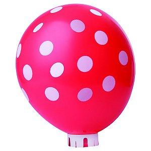 Balão / Bexiga Happy Day N11 Confete Vermelho e Branco C/25