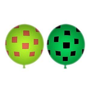 Balão / Bexiga Happy Day Cubos Sortidos C/25