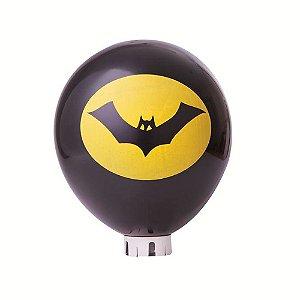 Balão / Bexiga Happy Day N11 Morcego Preto e Amarelo C/25