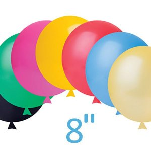 Balão / Bexiga Happy Day Lisa, Nº8 - Cores Sortidas - C/50
