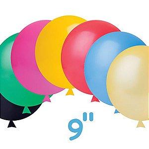 Balão / Bexiga Happy Day Lisa, N9 | Cores Sortidas - C/50