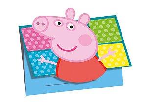 Convite Festa de Aniversário Peppa Pig C/8