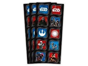 Adesivo Decorativo Quadrado Star Wars