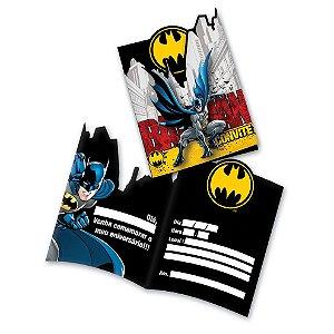 Convite de Festa de Aniversário Batman C/8