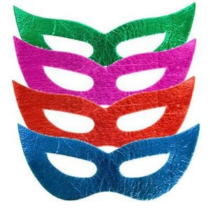 Máscara holografica neon c/12 unidades formato gatinha