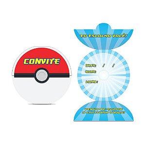 Convite De Festa De Aniversário Pokémon C/8