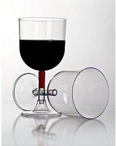 Taça acrilica 260ml vinhos cristal C/4