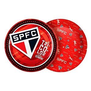 Prato Descartável Redondo São Paulo F.C. C/8