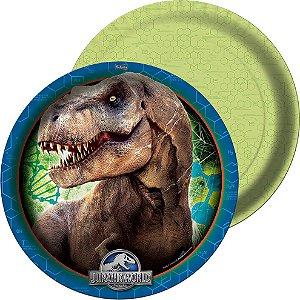 Prato Descartável Redondo Jurassic World C/8