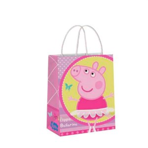 Sacola Presente Peppa Pig Papel C/10