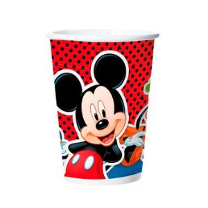 Copo Mickey De Papel 180ml
