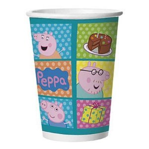 Copo Peppa Pig De Papel 330ml