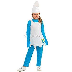 Fantasia Original Smurfete Infantil Luxo M
