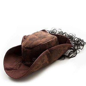Chapéu Pirata Com Cabelo Sintético Para Fantasias