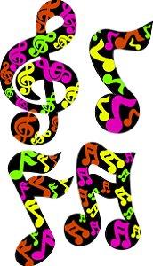 Kit Notas Musicais C\4