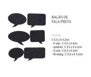 Adesivo Mini Lousa Balões De Fala Preto C/06
