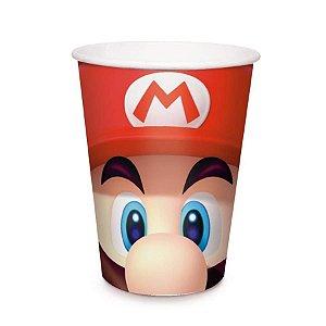 Copo De Papel Descartável Super Mario 240ml