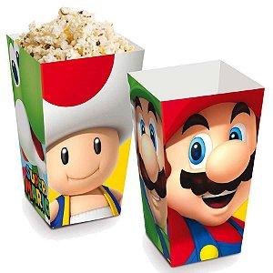 Caixa Para Pipoca Super Mario C/10