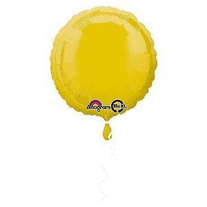 Balão Decorador Metalizado Standard Circulo Amarelo