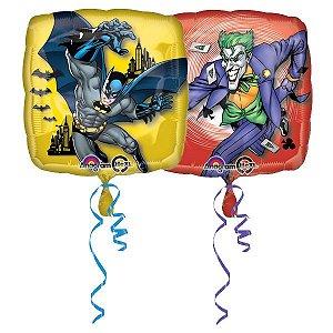 Balão Metalizado Standard Quadrado Batman E Coringa