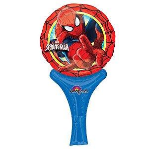 Balão Metalizado Sopre E Brinque Homem Aranha