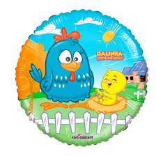 Balão Metalizado Galinha Pintadinha Air Filled