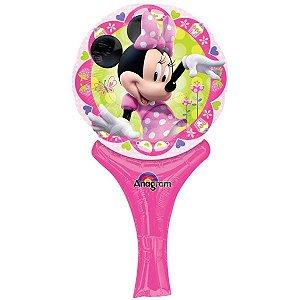 Balão Metalizado Sopre E Brinque Minnie