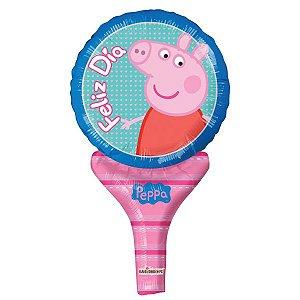Balão Metalizado Sopre E Brinque Peppa Pig