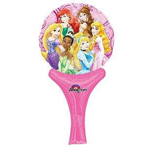 Balão Metalizado Sopre E Brinque Princesas