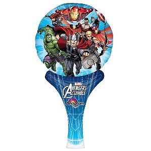 Balão Metalizado Sopre E Brinque Vingadores