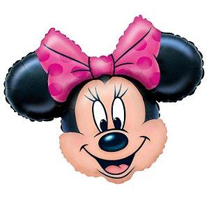 Balão Metalizado Super Shape Cabeça Minnie Mouse