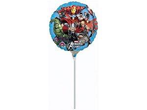 """Balão 9"""" Metal Vingadores"""