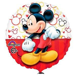 Balão Metalizado Standard Mickey Vermelho